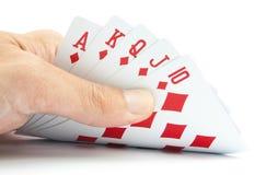 Играя карточки в руке Стоковые Изображения RF