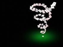 Играя карточки летая на таблицу покера Стоковое фото RF