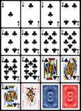 Играя карточки - костюм клубов Стоковая Фотография