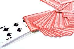 Играя карточки стоковое изображение