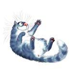 Играя кот иллюстрация штока