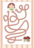 Игра лабиринта или лабиринта на дети дошкольного возраста (9) Стоковая Фотография