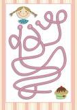 Игра лабиринта или лабиринта на дети дошкольного возраста (8) Стоковые Изображения RF