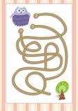 Игра лабиринта или лабиринта на дети дошкольного возраста (1) Стоковые Изображения RF