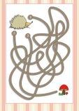 Игра лабиринта или лабиринта на дети дошкольного возраста (2) Стоковые Фотографии RF