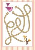 Игра лабиринта или лабиринта на дети дошкольного возраста (3) Стоковые Изображения