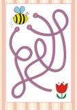 Игра лабиринта или лабиринта на дети дошкольного возраста (4) Стоковые Изображения