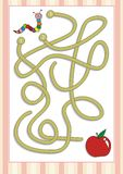 Игра лабиринта или лабиринта на дети дошкольного возраста (6) Стоковые Изображения