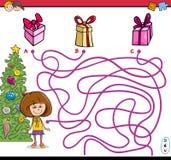 Игра лабиринта пути рождества бесплатная иллюстрация