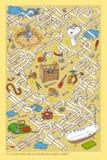 Игра лабиринта труб Стоковые Изображения