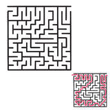 Игра лабиринта ` s детей стоковые изображения