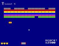 Игра аркады проламывания Стоковая Фотография RF