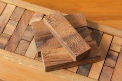 Игра башни деревянного блока для детей Стоковое фото RF