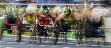 Игра 2016 Бразилии - Рио-де-Жанейро - Paralympic атлетика в 1500 метров Стоковое Фото