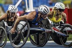Игра 2016 Бразилии - Рио-де-Жанейро - Paralympic атлетика в 1500 метров Стоковые Изображения RF
