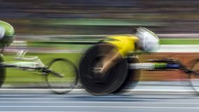 Игра 2016 Бразилии - Рио-де-Жанейро - Paralympic атлетика в 1500 метров Стоковые Изображения