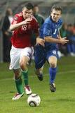 игра Венгрия moldova евро 2012 квалифицируя uefa против Стоковые Фотографии RF
