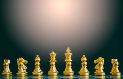 Игра возможности разума сражения шахмат стратегии на доске Стоковая Фотография RF
