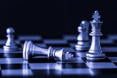 Игра возможности разума сражения шахмат стратегии на доске Стоковое Изображение