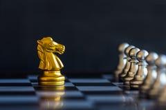 Игра возможности разума сражения шахмат стратегии на доске Стоковые Изображения