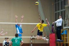 Игра волейбола Украинская супер лига стоковое изображение rf