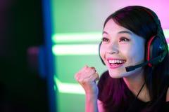 Игра выигрыша gamer спорта кибер стоковое фото