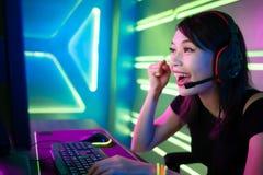 Игра выигрыша gamer спорта кибер стоковое изображение rf