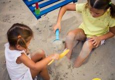 Игра в песке стоковые изображения