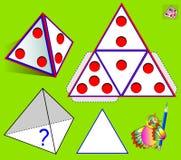 Игра головоломки логики Что покрашено на дне пирамиды согласно картине? бесплатная иллюстрация