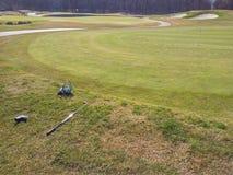 Игра гольфа outdoors стоковое изображение
