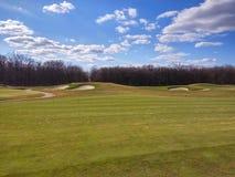 Игра гольфа outdoors стоковая фотография rf