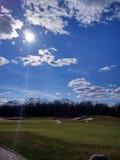 Игра гольфа outdoors стоковое изображение rf