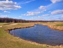 Игра гольфа outdoors стоковые фото