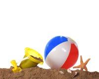 игра граници пляжа Стоковые Изображения