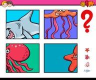 Игра деятельности с животными морской жизни иллюстрация штока