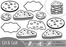 Игра для детей, сандвич образования бумажная иллюстрация вектора