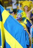 Игра 2012 ЕВРО UEFA Швеция против Франции Стоковое Изображение RF