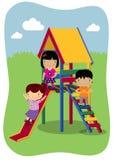 Игра детей внешняя Стоковое Изображение