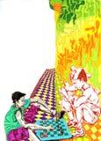 Игра детей в шахмат Бесплатная Иллюстрация