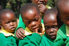 Игра детей детского сада деревни Pomerini-Tan Стоковые Фотографии RF