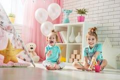 игра детей счастливая Стоковая Фотография RF
