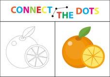 Игра детей s воспитательная для двигательных навыков Соедините изображение точек Для детей времени preschool Круг на Стоковые Фотографии RF