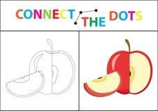 Игра детей s воспитательная для двигательных навыков Соедините изображение точек Стоковое фото RF