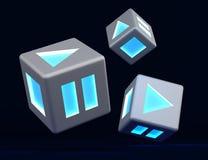 игра зарева кубиков Иллюстрация вектора