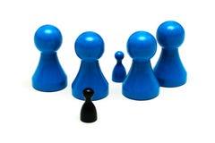 Игра защиты вычисляет различные размеры Стоковые Фотографии RF