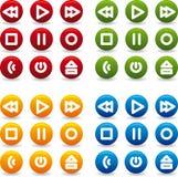 игра иконы кнопки Стоковая Фотография