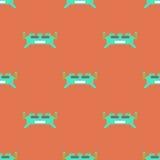 Игра или плакаты app игры картины изверга безшовная роботы app Стоковые Фотографии RF