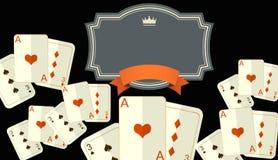 Игра казино, карточки, королевские игры, иллюстрация 3D Стоковое Фото