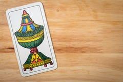 Игра карточек придает форму чашки туз Стоковое фото RF