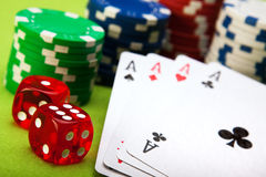 игра карточек Стоковое Фото